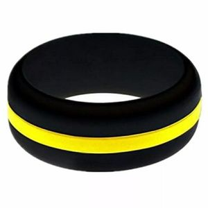 Thin Yellow Line Silicone Ring for Dispatchers